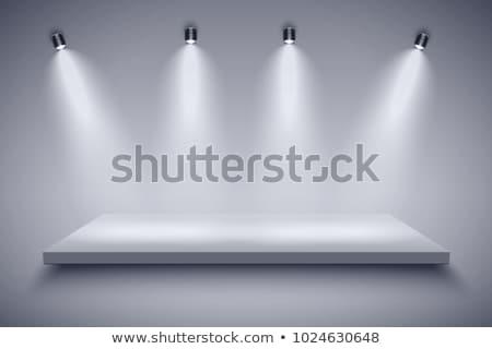 Fehér fekete termékek háttér színház fények Stock fotó © stuartmiles