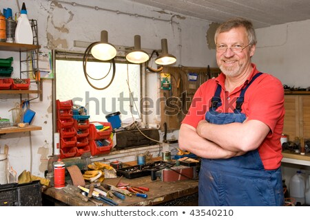 Man at workbench with tools Stock photo © photography33