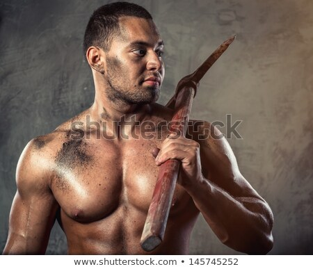 Young worker with pick-Axe Stock photo © photography33