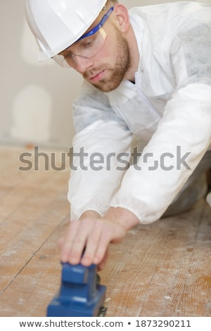Tradesman holding a sander Stock photo © photography33