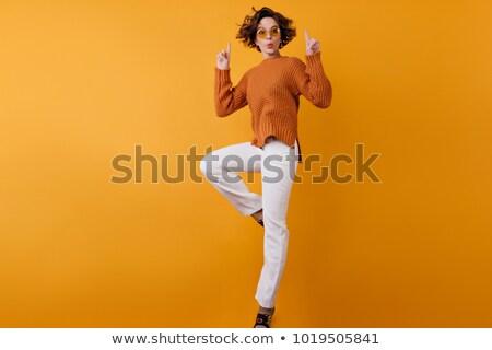 salsa · tancerz · piękna · stanowią · młoda · kobieta · dance - zdjęcia stock © dolgachov