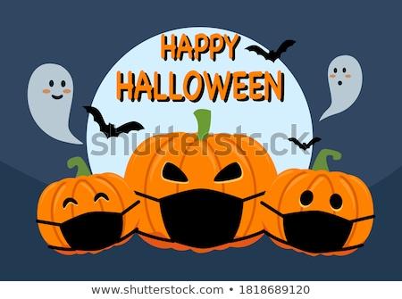 gelukkig · halloween · mooie · heks · bat · pop · art - stockfoto © carodi