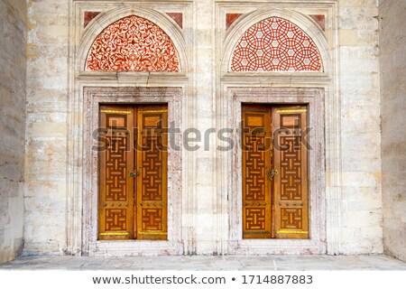 Antica storico porta vecchio ornamento decorativo Foto d'archivio © ziprashantzi