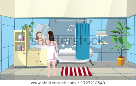 Bubbly brunette pampering herself Stock photo © photography33