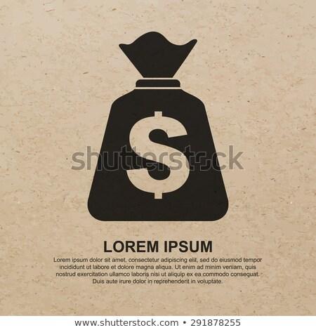 Geri dönüşüm ambalaj kâğıdı çanta ikon kazanç iş Stok fotoğraf © experimental