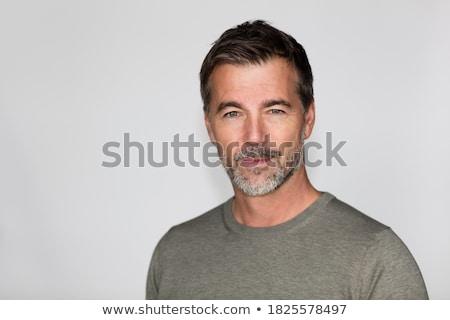 Homme beauté élégant jeune homme céleste extérieur Photo stock © curaphotography
