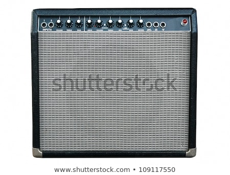 Guitar and old amplifier stack Stock photo © sumners