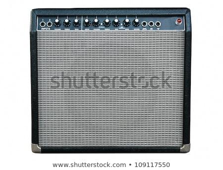 velho · guitarra · preto · e · branco · foto · estilo · retro · fundo - foto stock © sumners
