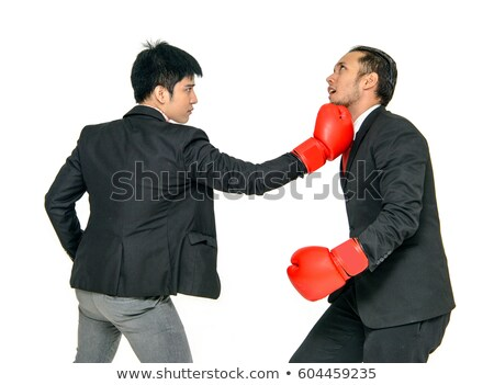 Office worker in heels and boxing gloves Stock photo © photography33