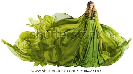 Tündér gyönyörű szőke lány fúj ruha Stock fotó © Victoria_Andreas