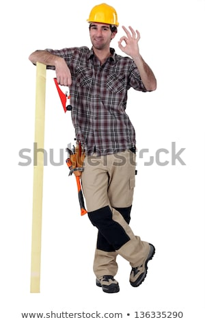 Satisfied laborer doing OK sign Stock photo © photography33