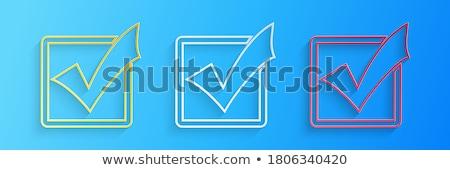 vektor · piros · csekk · lista · osztályzat · szimbólum - stock fotó © oblachko
