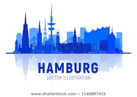 порта Skyline Гамбург воды лодка реке Сток-фото © CarmenSteiner