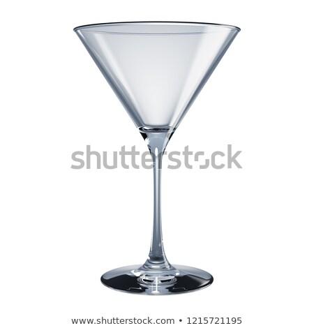 Vidro martini 3D imagem Foto stock © dacasdo