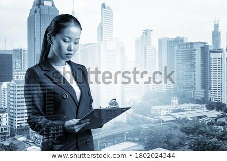 Femenino supervisor bloc de notas negocios mujer espacio Foto stock © photography33