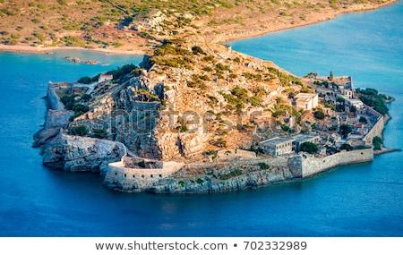 Beautiful summer sea landscape. Elounda, Crete Stock photo © dashapetrenko