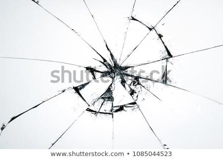 cacos · de · vidro · superfície · rachaduras · azul · branco · linhas - foto stock © guffoto