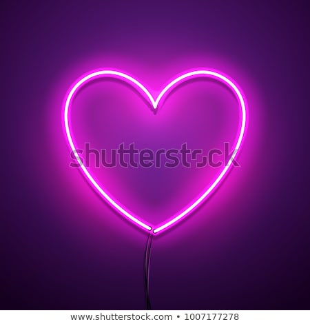 Abstract red and pink glowing heart shaped lights. Stock photo © tuulijumala