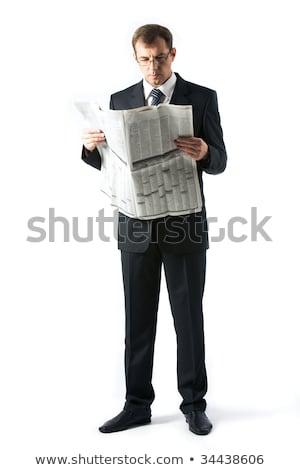 entrepreneur · journal · jeunes · puce · séance - photo stock © juniart