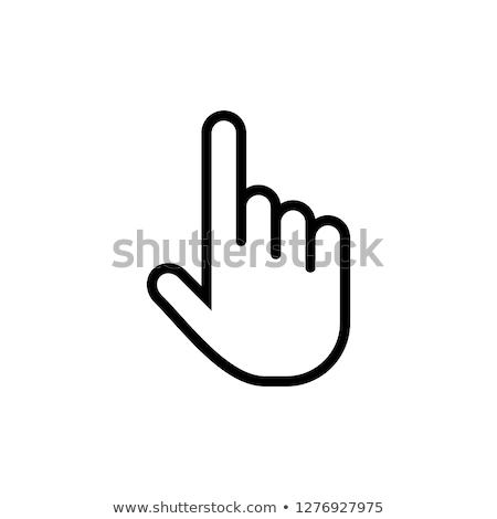 kurzor · kéz · klassz · 3D · ikon · árnyék - stock fotó © rioillustrator