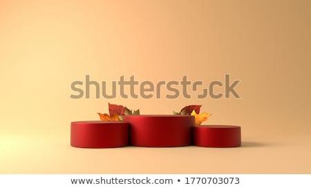 Stockfoto: Dankzegging · 3D · oranje · brieven · partij