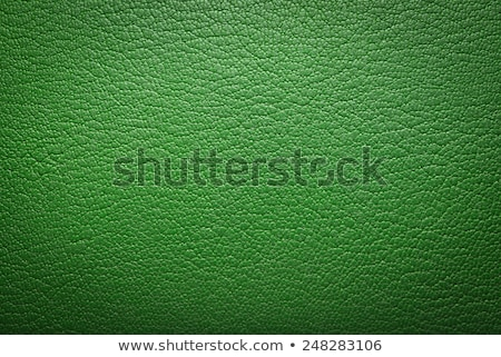 Stock photo: Green leather texture closeup