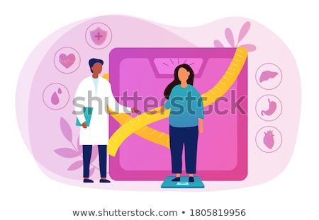 diabète · nuage · de · mots · mot · autour · mots · glucose - photo stock © tashatuvango