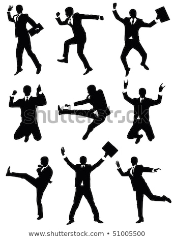business man jumping and falling in the air stock photo © istanbul2009