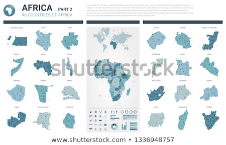 Africa map with Equatorial Guinea Stock photo © Ustofre9