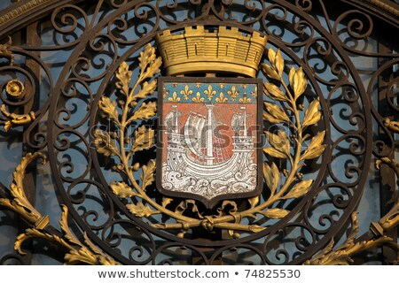 Paris City Coat Of Arms - Fluctuat Nec Mergitur Zdjęcia stock © jorisvo