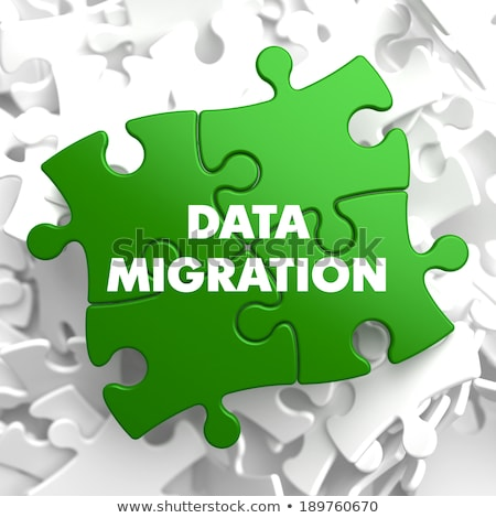 Data Migration on Green Puzzle. Stock photo © tashatuvango