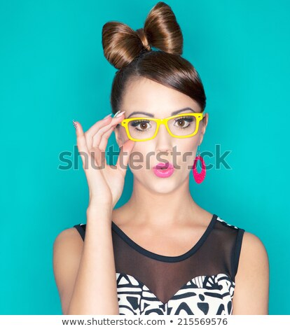 выразительный брюнетка красоту портрет красивой молодые Сток-фото © lithian