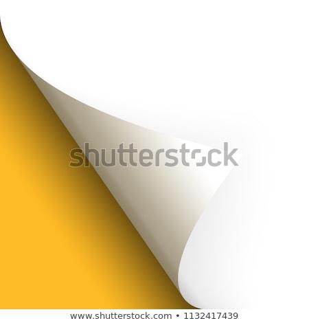 бумаги страница нижний желтый служба Новости Сток-фото © opicobello