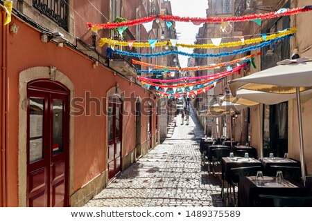 tájkép · Lisszabon · Portugália · épület · város · utca - stock fotó © taiga