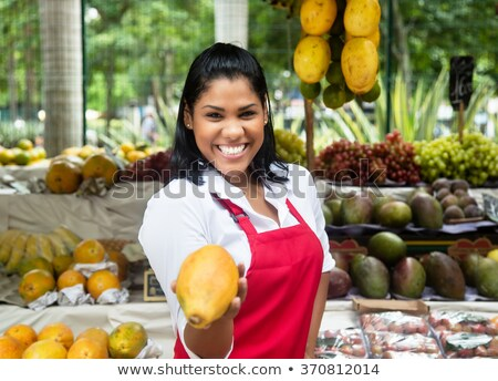 Gyümölcs piac Peru város narancs kosár Stock fotó © bmonteny