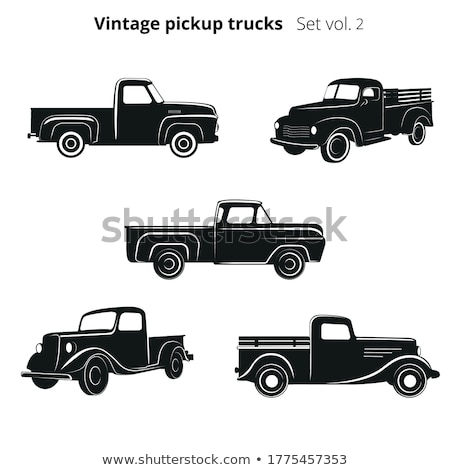 Truck silhouette design on red background  Stock photo © vipervxw