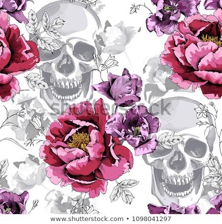 Muerte blanco tulipanes cristal jarrón acuarela Foto stock © vavlt