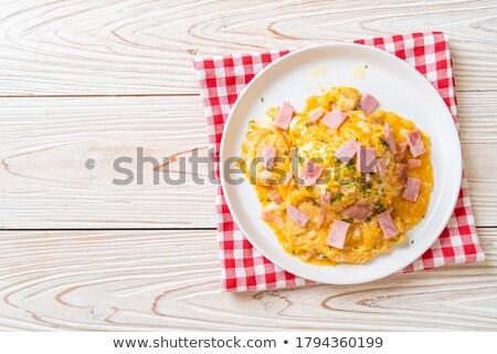 Kahvaltı örnek vektör gıda mutfak plaka Stok fotoğraf © auimeesri