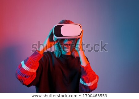 girl makes immersion stock photo © adrenalina