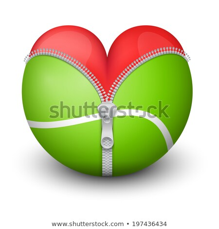 I love Tennis, Heart with Tennis Ball Inside  Stock photo © alexmillos