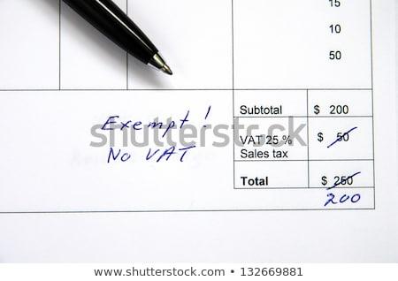 Helytelen számla ÁFA részlet mennyiség toll Stock fotó © olandsfokus