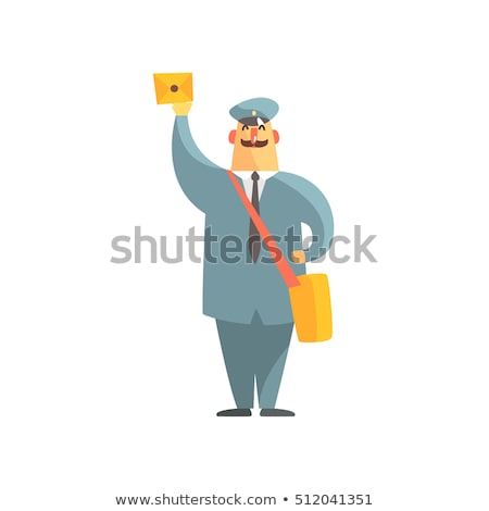 listonosz · litery · portret · szczęśliwy · dojrzały - zdjęcia stock © andreypopov