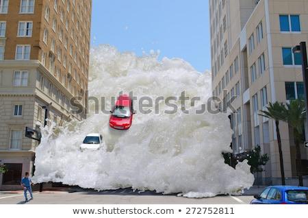 Tsunami dalga dev okyanus su soyut Stok fotoğraf © cteconsulting