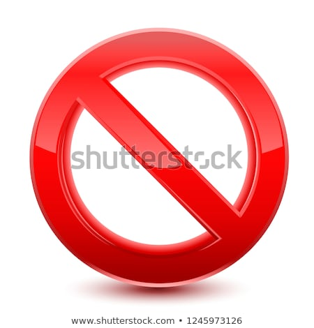 3d forbidden sign  Stock photo © ylivdesign