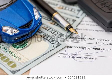 automático · empréstimo · calculadora · carro · veículo · cálculo - foto stock © Dxinerz