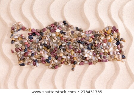 Stock photo: Map of Turkey Formed with Pebbles on Beach
