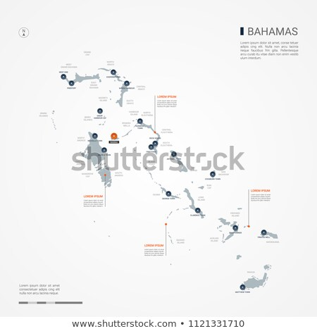 orange button with the image maps of Bahamas Stock photo © mayboro