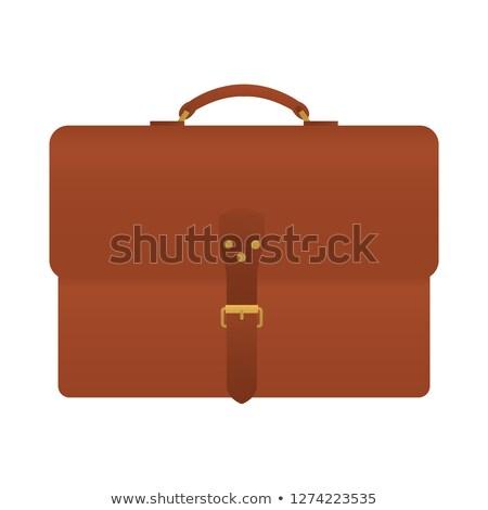 мнение элегантный коричневый костюм бизнеса Сток-фото © caimacanul