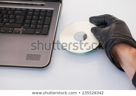 Inbreker hacking laptop witte technologie notebook Stockfoto © wavebreak_media