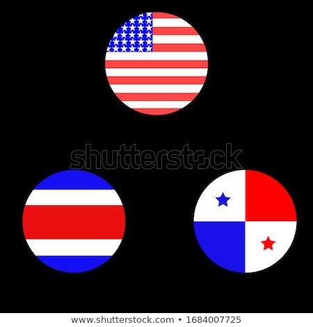 Ikon bayrak Panama yalıtılmış beyaz seyahat Stok fotoğraf © MikhailMishchenko